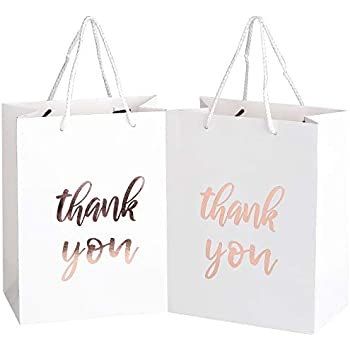 Amazon Com 12 Pack Thank You Gift Bags Elegant Paper