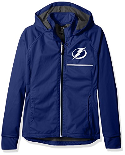 GIII For Her NHL Tampa Bay Lightning Adult Women Cut Back Soft Shell Jacket, Small, ()