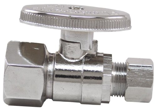 Plumb Craft 7830700LF 1/2-Inch by 3/8-Inch Low Lead Quick Shutoff Straight Valve by Plumb Craft