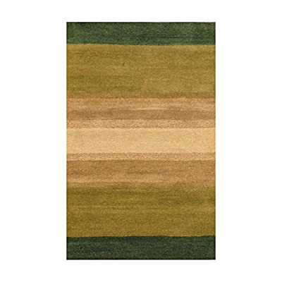 Herat Oriental Indo Hand-Tufted Striped Wool Rug