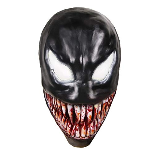Waylike Venom Mask Latex Venom Costume Rubber Cosplay Costume for Novelty Halloween Mask -