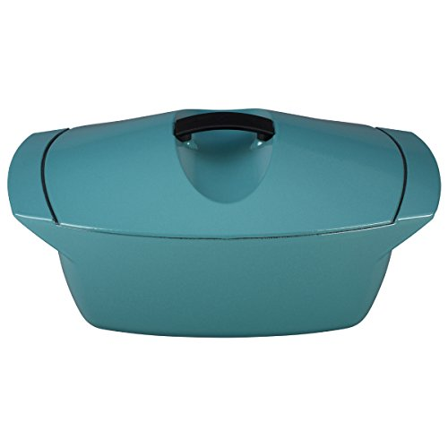 Le Creuset L2560-284T Raymond Loewy Coquelle Oven, 5 quart, Turquoise by Le Creuset