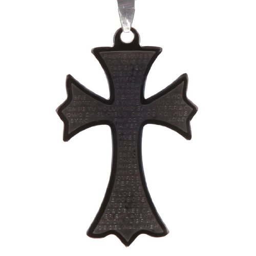 J2036 Black Designer Inspired Black Cross For Him Chain Boxed By (Him Boxed)