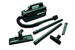 Meet an indispensable tool in the Oreck cleaning arsenal - the Oreck Super Deluxe Compact Canister Vacuum Cleaner. Because it weighs barely 5 pounds, you can carry it, or wear it over your shoulder. Ideal for all those hard-to-reach, hard-to-...