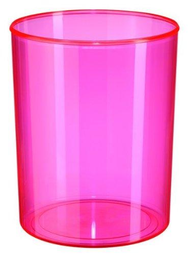 HAN 18131-76, Design-Papierkorb i-Line SIGNAL, Modern, Stylisch, Elegant und hochglänzend, Premium Qualität, 13 Liter, signal-pink