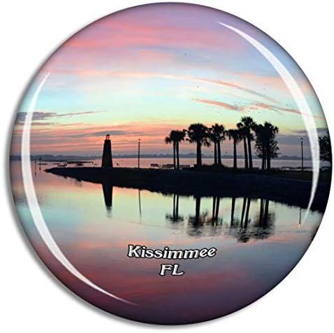 キシミー灯台フロリダ米国冷蔵庫マグネット3Dクリスタルガラス観光都市旅行お土産コレクションギフト強い冷蔵庫ステッカー