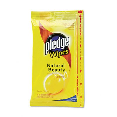 Pledge Lemon Wipes, 18-Count  (Pack of 12) by Pledge