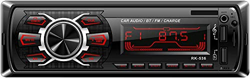 Bluetooth Vehicle Car Audio Stereo, Lypumso Autoradio FM Stereo Bluetooth Hands-Free 60W * 4 Double USB Quick Charge MP3…