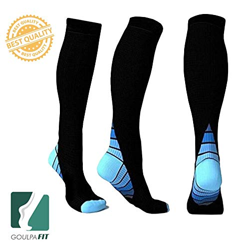 Goulpa Fit Compression Socks for Women and Men Running Compression Socks Nurses Compression Socks Women Medical Compression Socks Pregnancy Compression Socks Women Maternity Compression Socks (S/M)
