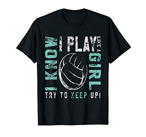 Volleyball T Shirt For Teen Girls - Play Like A Girl Tee