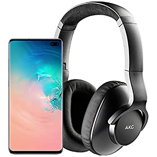 Samsung Galaxy S10+ Plus Factory Unlocked Phone with 1TB (U.S. Warranty), Ceramic White w/AKG N700NC M2 Headphones