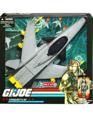 G.I. JOE Exclusive Deluxe Vehicle Conquest X-30 with Lt. Slip Stream - Exclusive Gi Joe