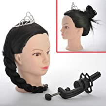 Synthetic Hair Hairdressing Training Head Dummy With Free Clamp