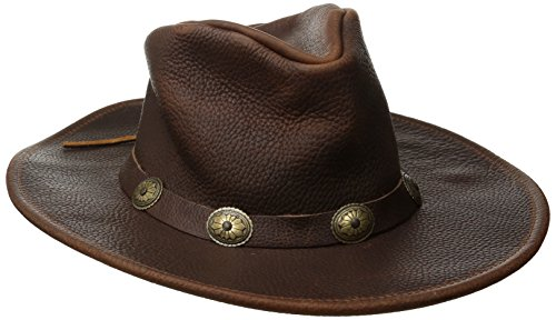 Henschel Walker, Full Grain Leather, Shapeable Brim, Conche Band, Brown, Large