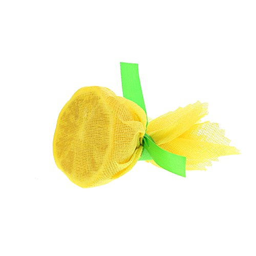 - Royal Flat Yellow Lemon Wraps with Green Ribbons, Package of 1000