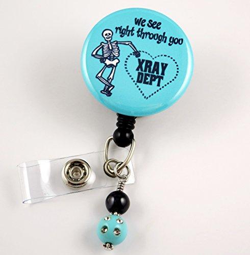 X Ray Department Blue - Nurse Badge Reel -Retractable ID Badge Holder - Nurse Badge - Badge Clip - Badge Reels - Pediatric - RN - Name Badge Holder