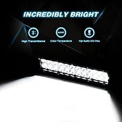 Nilight LED Light Bar 12 Inch 72W LED Work Light S