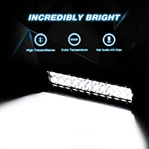 Nilight LED Light Bar 12 Inch 72W LED Work Light Spot Flood Combo LED Lights Led Bar Driving Fog Lights Jeep Off Road Lights Boat Lighting,2 Years Warranty