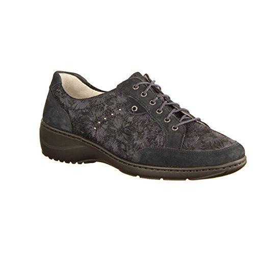 Azul Zapatos Cordones De Waldläufer Mujer Para H46wXnaaq