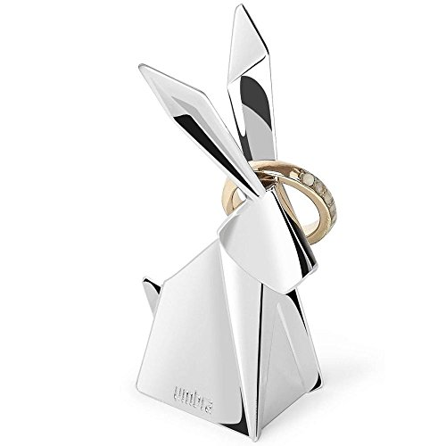 Origami Swan - Umbra Origami Rabbit Ring Holder for Party and Wedding Favors, Chrome