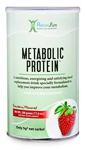 "RelaxSlim Meal Replacement Whey Protein Shake, Aid for a ""Slow Metabolism"" with Ingredients to Naturally Suppress Appetite and Start of Your Day Burning Fat- Great Taste and Very Filling (Metabolic Shake)"