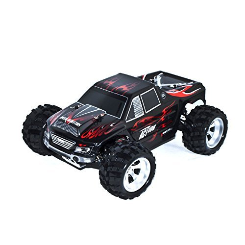 ALEKO 66A979 4WD Off Road Electric Power High Speed Monster Truck, Black 1/18 Scale - Gas Power Rc Truck