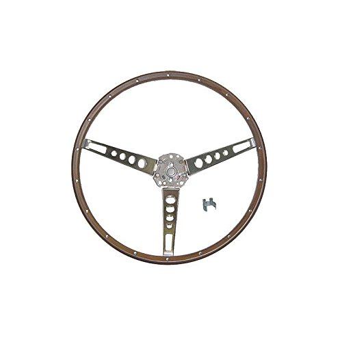 - MACs Auto Parts 44-38401 Mustang Steering Wheel - Simulated Wood - For Deluxe Pony Interior