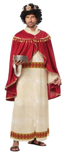 California Costumes Men's Melchior Of Persia Adult, Red/Cream, Medium