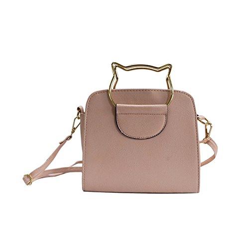 Handle Pink Summer Women's Fashion Top Cross Cute Shoulder Body Cat Bag tqCZqS