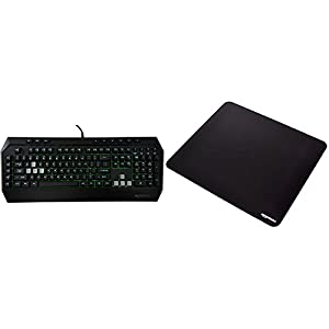 AmazonBasics Gaming Keyboard and XXL Mouse Pad Bundle