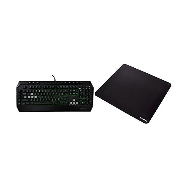 Amazon Basics Gaming Keyboard and XXL Mouse Pad Bundle