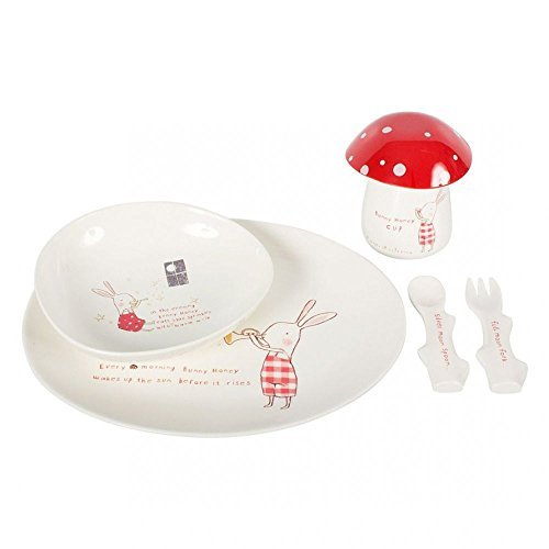 Maileg, Bunny Red, 6 Piece Dinner Set, Red by Maileg