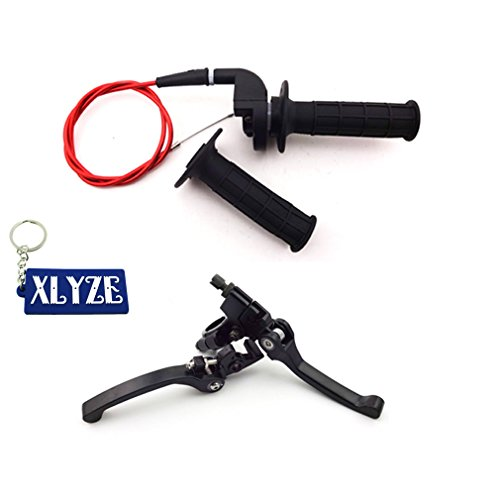 XLYZE Aluminum Folding Brake Clutch Lever Twist Throttle Handle Grips Cable for Honda CRF50 125cc SSR Lifan Chinese 50cc 70cc 90cc 110cc 125cc 140cc 150cc 160cc Pit Dirt Bike