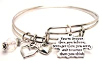 You're Braver Than You Believe Adjustable Wire Bangle Bracelet