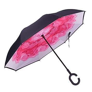 Rziioo Paraguas invertido al revés, revés, al revés ...