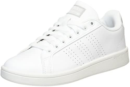 new concept 71734 d6f17 adidas neo Women s Cf Advantage Cl W Ftwwht Ftwwht Silvmt Leather Tennis  Shoes -