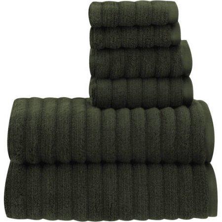 Mainstays Performance Bath Towel - Textured 6-Piece Set