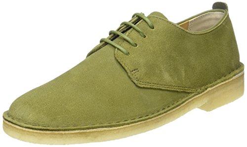 olive Uomo Suede Clarks Scarpe London Desert Stringate Verde xq8xf1vwB