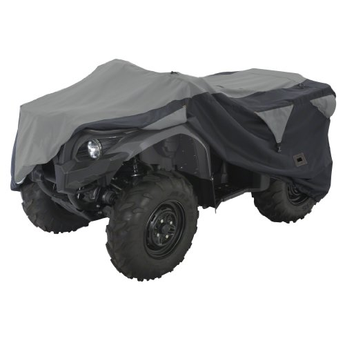 Classic Accessories 15-063-063804-00 Black/Grey XX-Large Deluxe ATV Storage Cover - Classic Deluxe Atv
