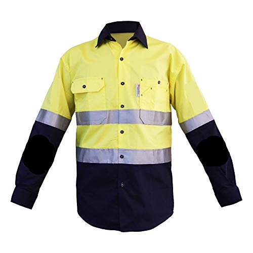 Double Hoop 3M Reflective Tape on Body & Sleeves Safety Coa Hi Vis Reflective Compliant Uniforms Work Wear