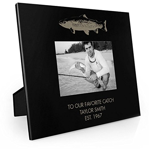 Personalized Top Fish Fly Fishing Frame | Engraved Fly Fishi