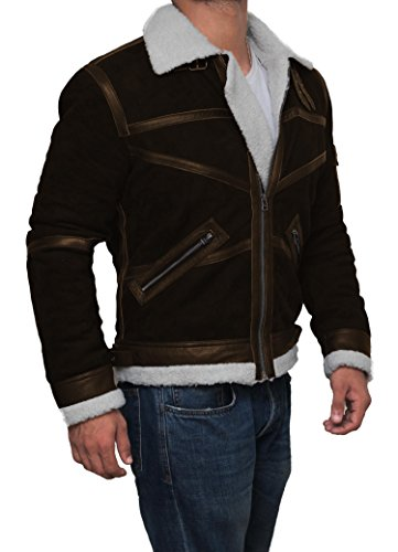 Mens Tom Cruise Jack Reacher Jacket - Leather Motorcycle Jacket (Brown - Power 50 Cent Jacket, XL) by Decrum (Image #3)