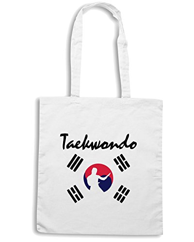 T-Shirtshock - Bolsa para la compra TBOXE0002 Ash-taekwondo Blanco