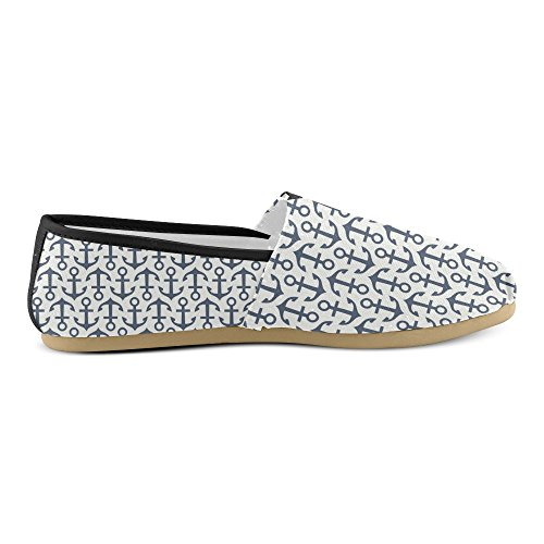 M-story Fashion Sneakers Flat Cartoon Blue Dogs Womens Classic Slip-on Scarpe Di Tela Mocassini Multi15