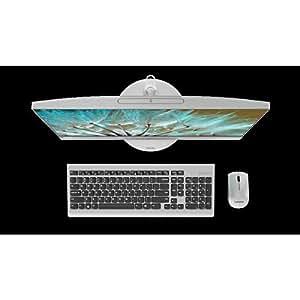 Lenovo IdeaCentre AIO 520 Desktop F0D5001JAX - Intel Core i5-7200U, 21.5-Inch Touch, 1TB, 4GB, 2GB VGA, Eng-Arb-Keyboard, DOS, Silver
