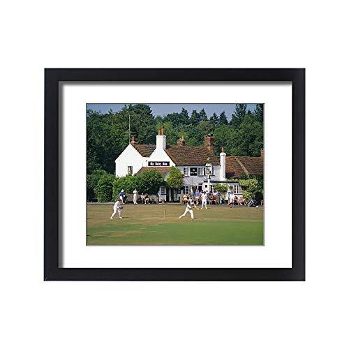 (robertharding Framed 20x16 Print of Village Green Cricket, Tilford, Surrey, England, UK (1145600))