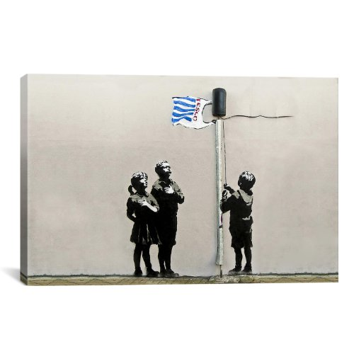 icanvasart-2086-tesco-bag-flag-tesco-generation-canvas-print-by-banksy-12-by-8-inch-075-inch-deep