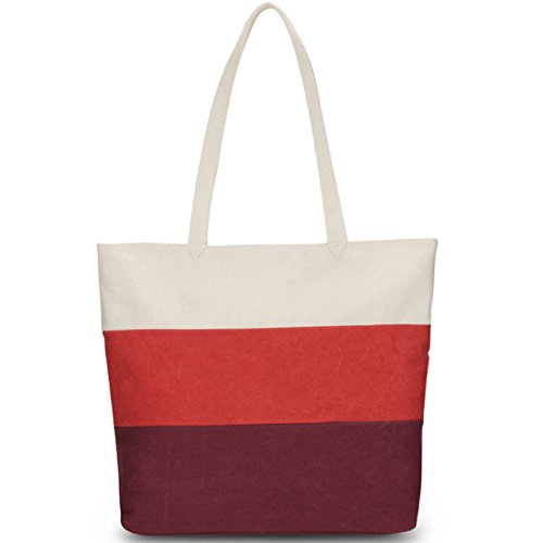 Day White Canvas Multicolour Girls Blue Tote White KAXIDY Beach Cotton Handles Red Bag Orange Tote Ladies Shopping Bags Shoulder Holiday Black tqwFxUF8O