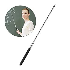 Tinksky Telescopic Teachers Pointer,Teaching Pointer,Hand Pointer Extendable Telescopic Retractable Pointer Handheld Presenter Classroom Whiteboard Pointer (Black)