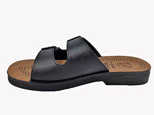 360 Around The World - Zapatillas de estar por casa de Material Sintético para hombre negro